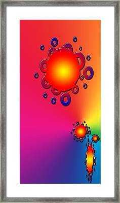 Blazing Colors Abstract Framed Print by Aimee L Maher Photography and Art Visit ALMGallerydotcom