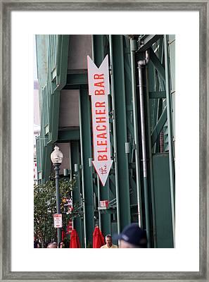 Bleacher Bar Framed Print by Greg DeBeck