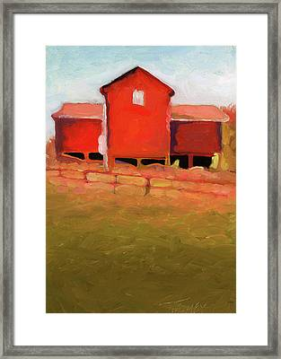 Bleak House Barn No. 4 Framed Print by Catherine Twomey