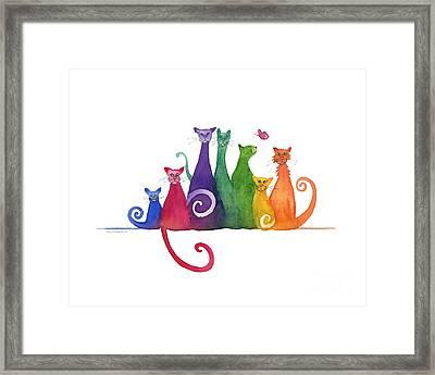 Blended Family Of Seven Framed Print by Amy Kirkpatrick