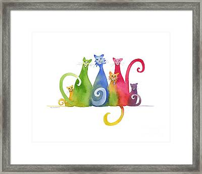 Blended Family Of Six Framed Print by Amy Kirkpatrick