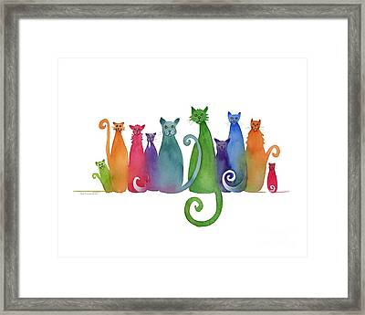Blended Family Of Ten Framed Print by Amy Kirkpatrick