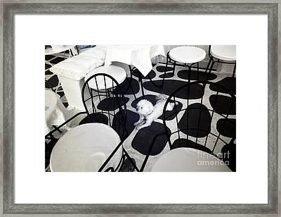 Blending In At Mykonos Infrared Framed Print by John Rizzuto