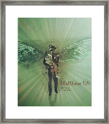 Blessed Are The Peacemakers Framed Print by Bryan Fields