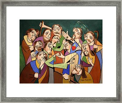 Blessed Is He Who Believes Without Seeing Framed Print by Anthony Falbo
