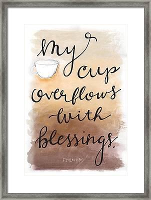 Blessings Framed Print by Nancy Ingersoll