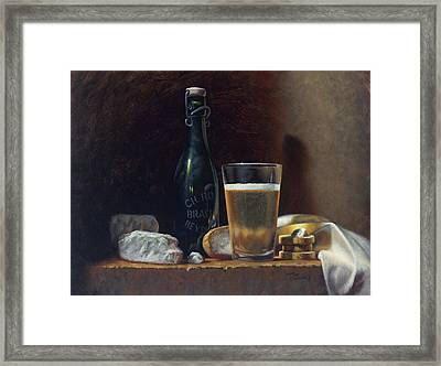 Bleu Cheese And Beer Framed Print by Timothy Jones