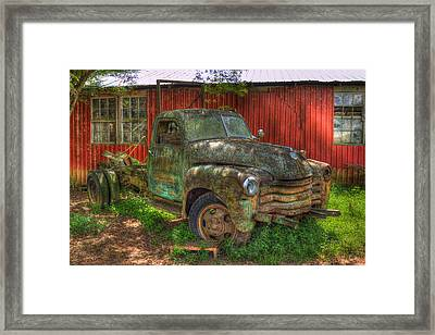 Blind In One Eye 1947 Chevy Flatbed Truck Framed Print by Reid Callaway