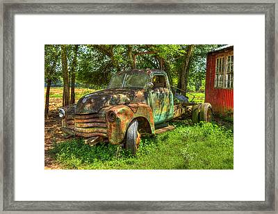 Blind In One Eye2 1947 Chevy Flatbed Truck Framed Print by Reid Callaway