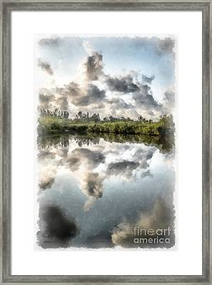 Blind Pass Bayou Sanibel Island Florida Framed Print by Edward Fielding
