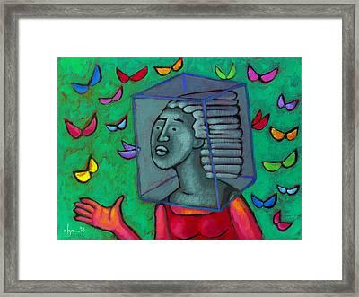 Blocked Framed Print by Angela Treat Lyon