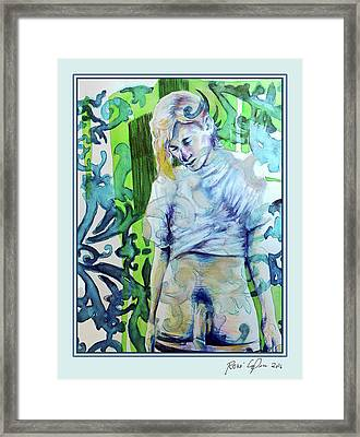 Blond Bomber Alternative Version  Framed Print by Rene Capone