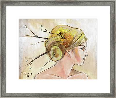 Blonde Autumn Right Framed Print by Jacque Hudson