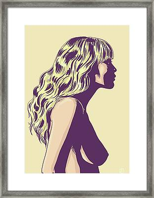 Blonde Framed Print by Giuseppe Cristiano