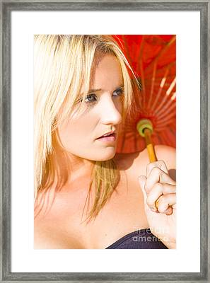 Blonde Glamour Framed Print by Jorgo Photography - Wall Art Gallery