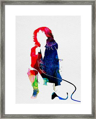 Blondie Watercolor Framed Print by Naxart Studio