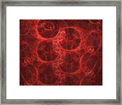 Blood Cells Framed Print by Patricia Kemke
