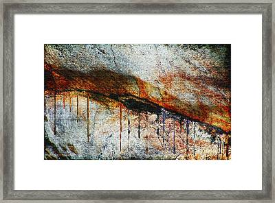 Blood From A Stone Framed Print by RC deWinter