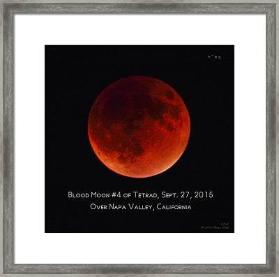 Blood Moon #4 Of 2014-2015 Tetrad Framed Print by Brian Tada