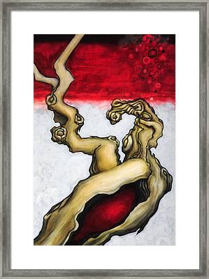 Blood Of Eden Framed Print by Angela Kallsen