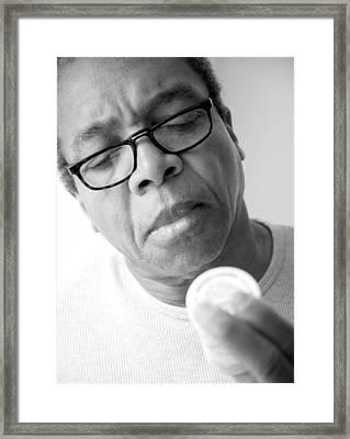 Blood Pressure Medication. Framed Print by Oscar Williams