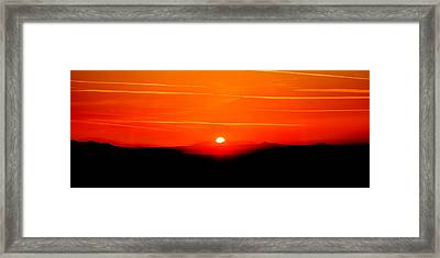 Blood Red Sunset Framed Print by Az Jackson