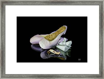 Blood Sweat And Tears Framed Print by Jette Van der Lende