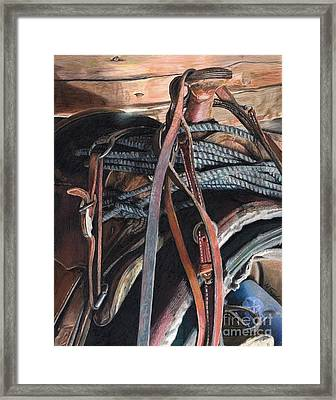 Blood Sweat And Tears Framed Print by Nichole Taylor