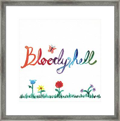 Bloody Hell Framed Print by Alicia VanNoy Call