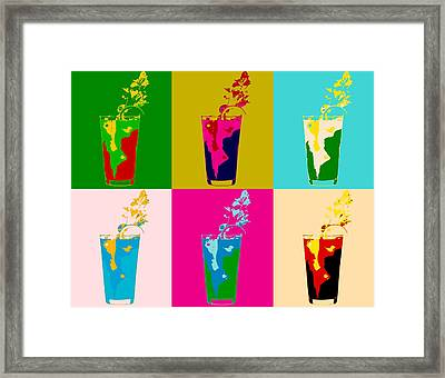 Bloody Mary Pop Art Panels Framed Print by Dan Sproul