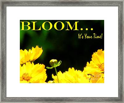 Bloom Framed Print by Gardening Perfection