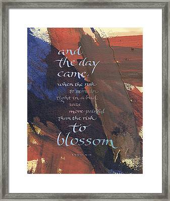 Blossom II Framed Print by Judy Dodds