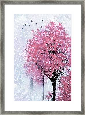 Blossoms In Winter Wall Art Framed Print by Georgiana Romanovna