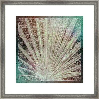 Blotch Palm Frond Framed Print by Marvin Spates