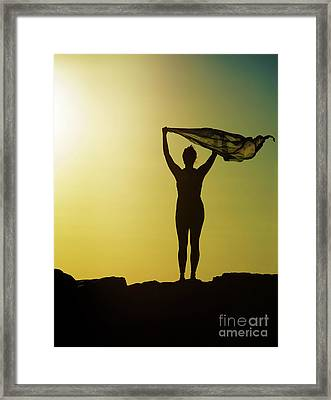 Blowing In The Wind... Framed Print by Nina Stavlund