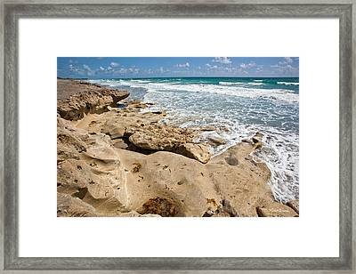 Blowing Rocks Preserve Jupiter Island Florida Framed Print by Michelle Wiarda