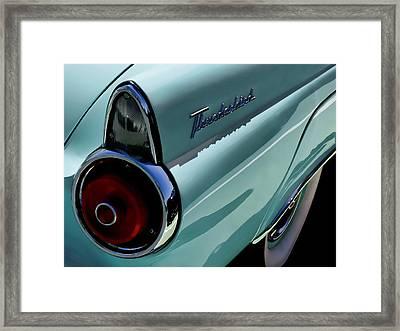 Blue 1955 T-bird Framed Print by Douglas Pittman