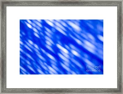 Blue Abstract 1 Framed Print by Tony Cordoza