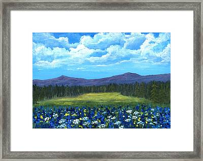 Blue Afternoon Framed Print by Anastasiya Malakhova