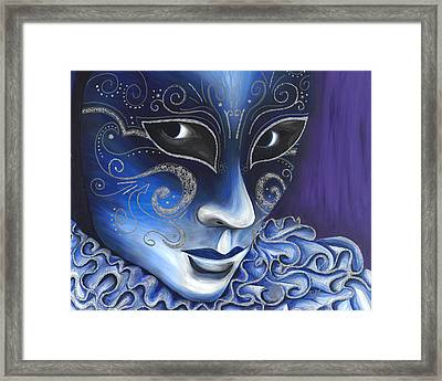 Blue And Sliver Carnival Flair  Framed Print by Patty Vicknair