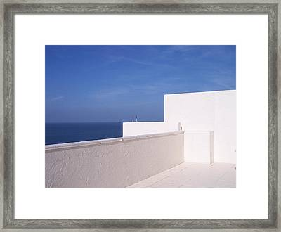 Blue And White Framed Print by Anna Villarreal Garbis