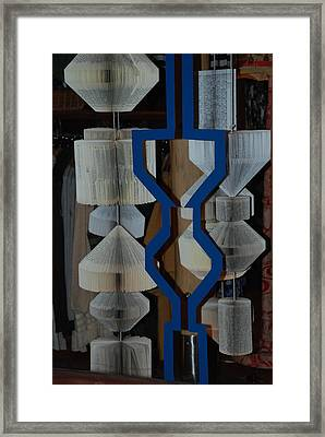 Blue And White Framed Print by Rob Hans