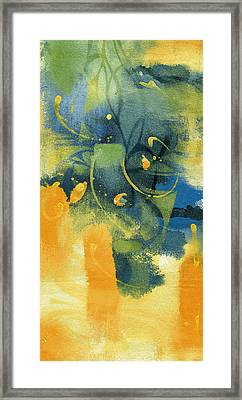Blue And Yellow Framed Print by Alfred Ng