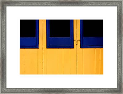 Blue And Yellow Framed Print by Art Block Collections