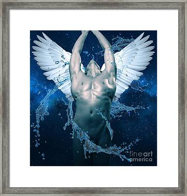 Blue Angel  Framed Print by Mark Ashkenazi