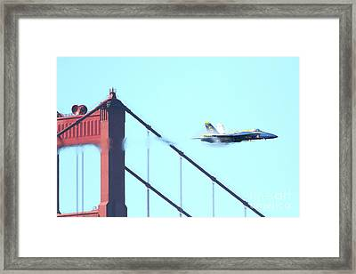 Blue Angels Crossing The Golden Gate Bridge 2 Framed Print by Wingsdomain Art and Photography