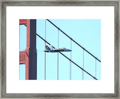 Blue Angels Crossing The Golden Gate Bridge 4 Framed Print by Wingsdomain Art and Photography