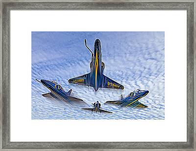 Blue Angels V.2 Electric Edition Framed Print by Tim Stanley