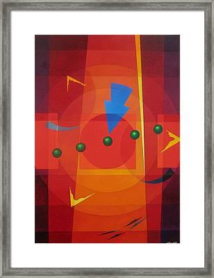 Blue Arrow Framed Print by Alberto D-Assumpcao