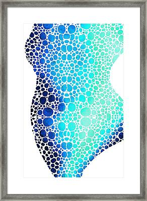 Blue Art - Colorforms 3 - Sharon Cummings  Framed Print by Sharon Cummings